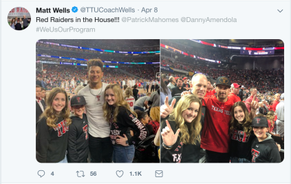 Matt Wells attends the Texas Tech Final 4 Game.