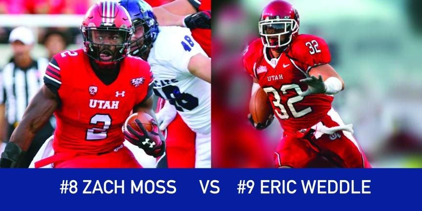 Utah March Madness: 8 Zack Moss vs 9 EricWeddle