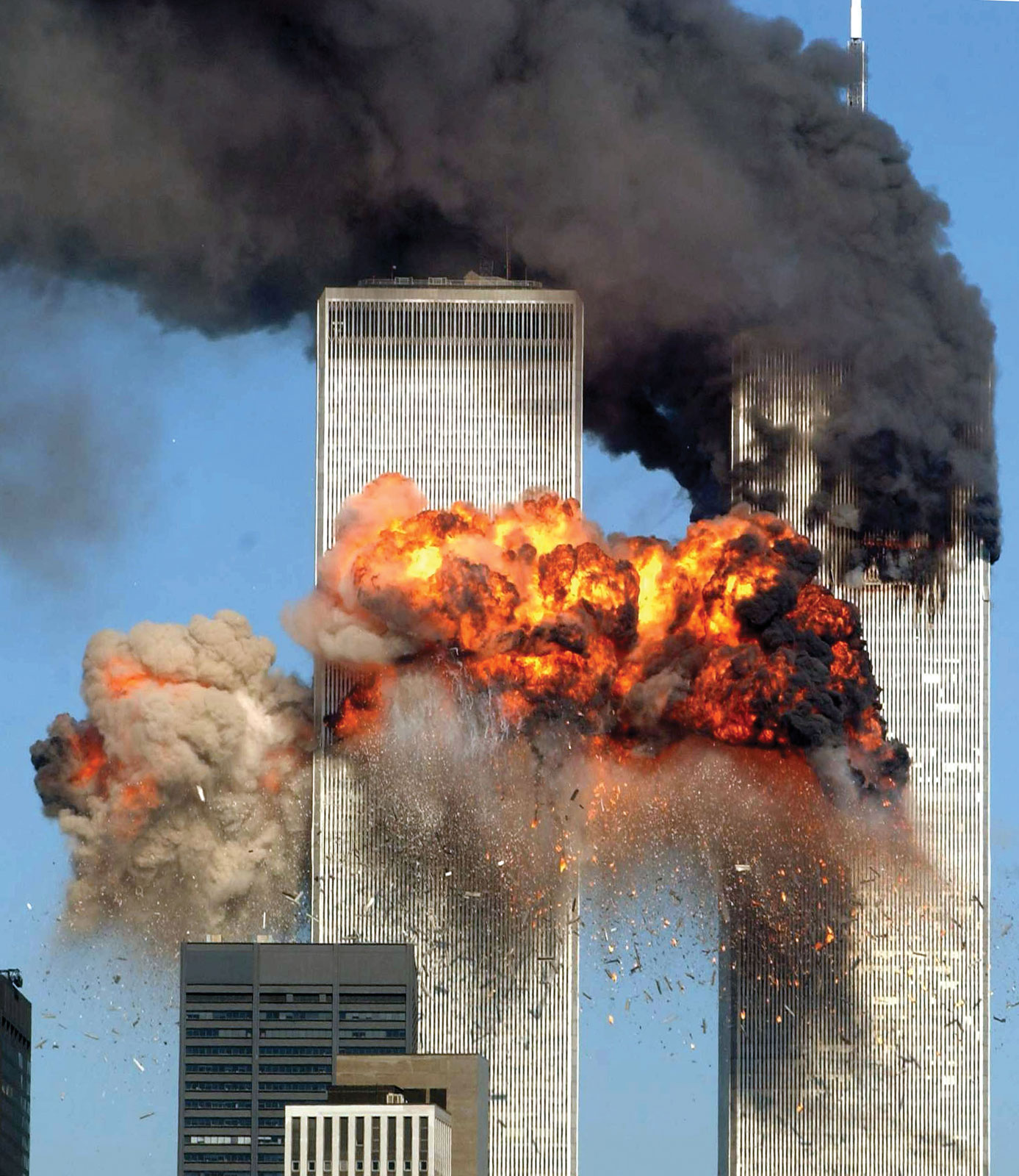 Smoke-flames-twin-towers-attacks-World-Trade-September-11-2001